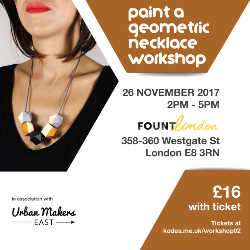 kodes accessories workshop paint your geometric necklace