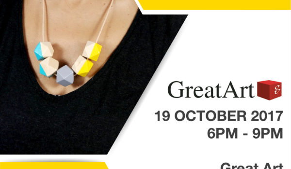 Kodes Accessorries Workshop Paint your own Geometric Necklace